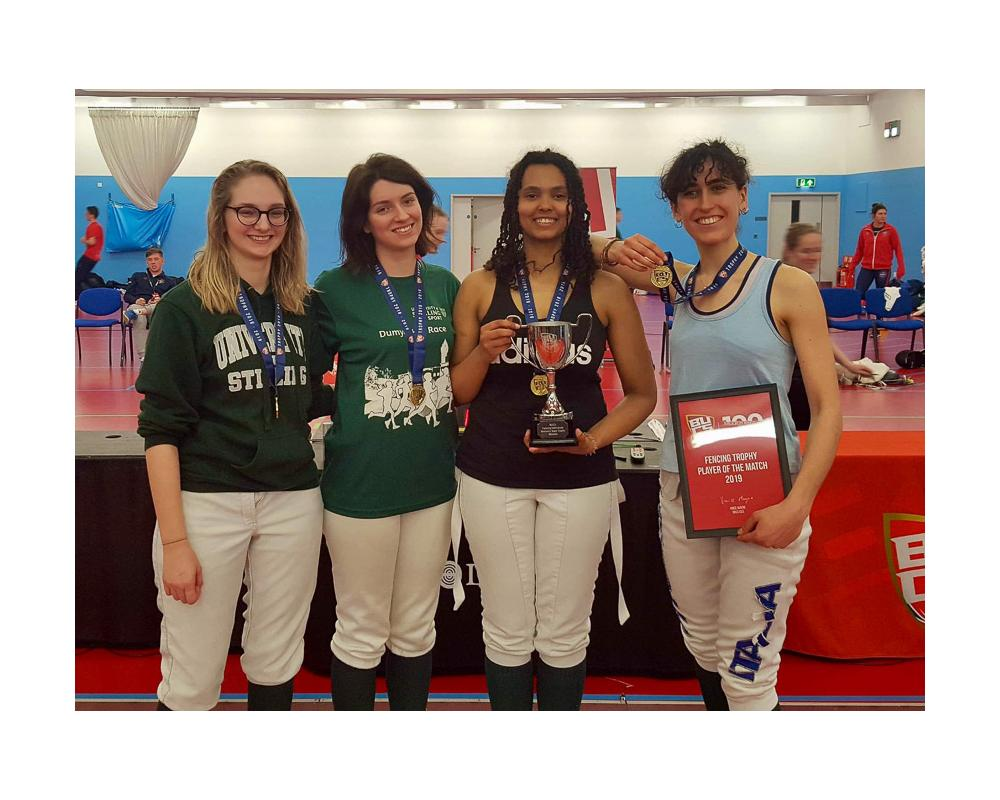 Faye Perry, far left BUCS Woment's Team Gold